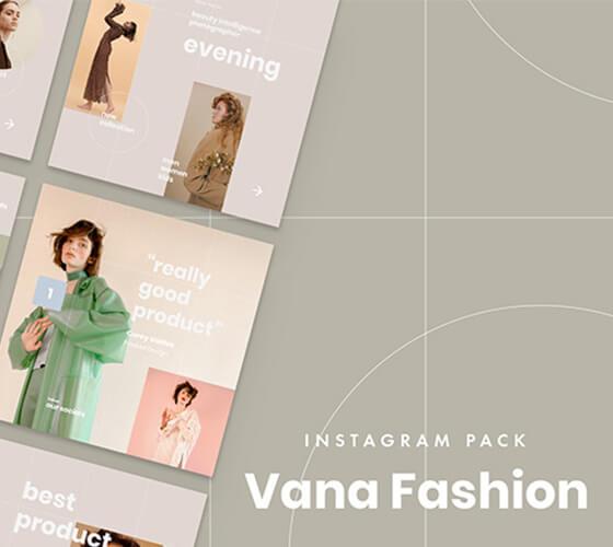 Vana Fashion Template para Instagram
