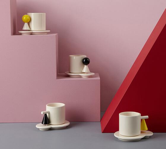 Bauhaus em peças de louça