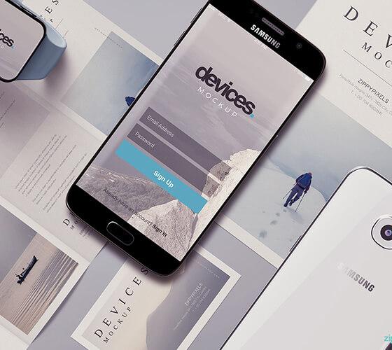 Mockup Samsung S6