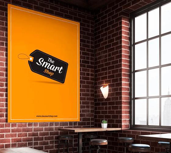 Mockup banner restaurante