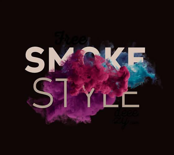 Mockup Fumaça Colorida