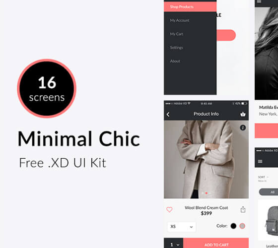 UI Kit Minimal Chic