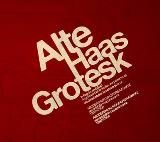 Alte Haas Grotesk