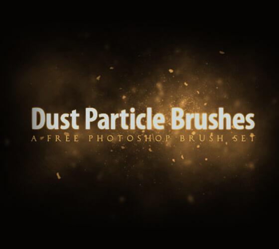 Brushes partículas de poeira