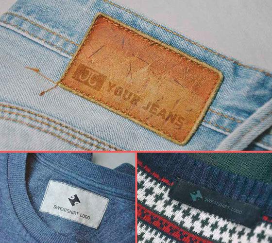 Mockup de etiqueta de roupa #2