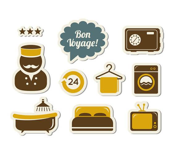 10 ícones de hotel