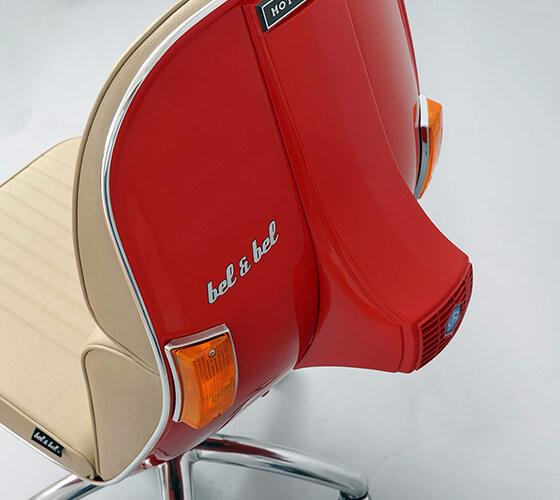 De Vespas a incríveis cadeiras