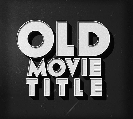 Efeito de texto de Filme Antigo