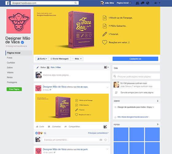 Mockup Fanpage Facebook