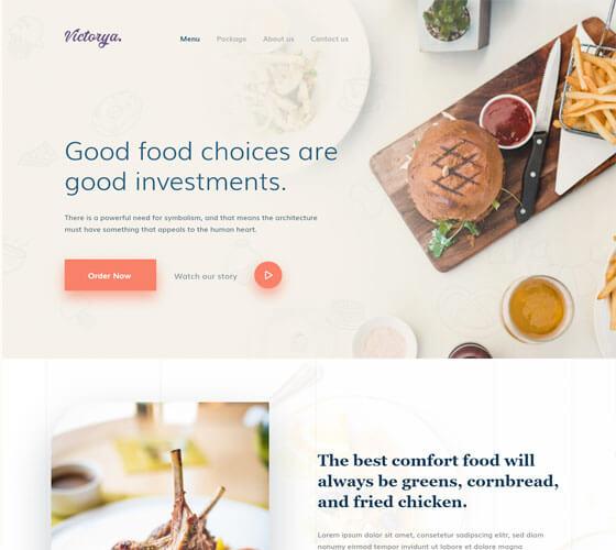 UI Kit Landing Page Alimentação