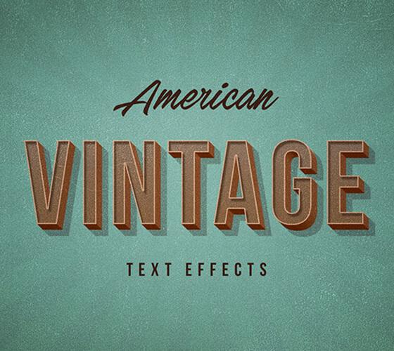 Efeito de texto American Vintage