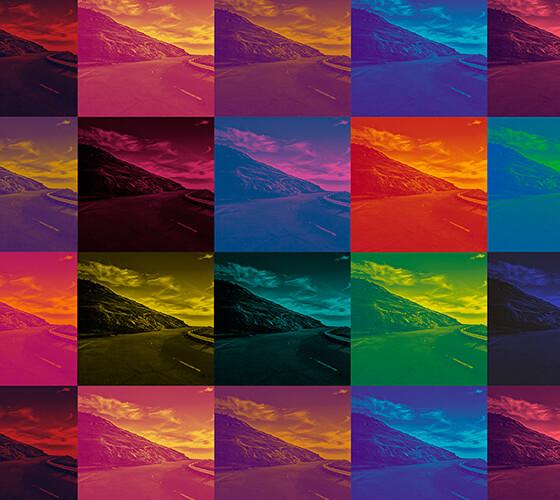 Filtro com gradientes em duas cores