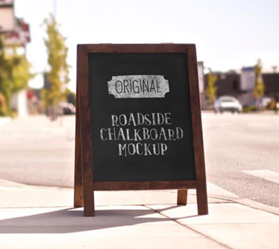 Mockup menu para calçada