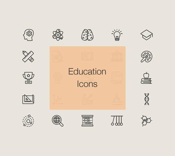 Ícones educação