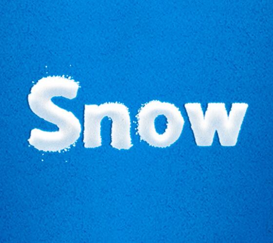 Efeito de texto Snow