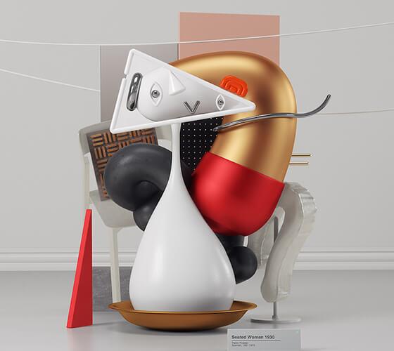 Obras 3D inspiradas em Pablo Picasso