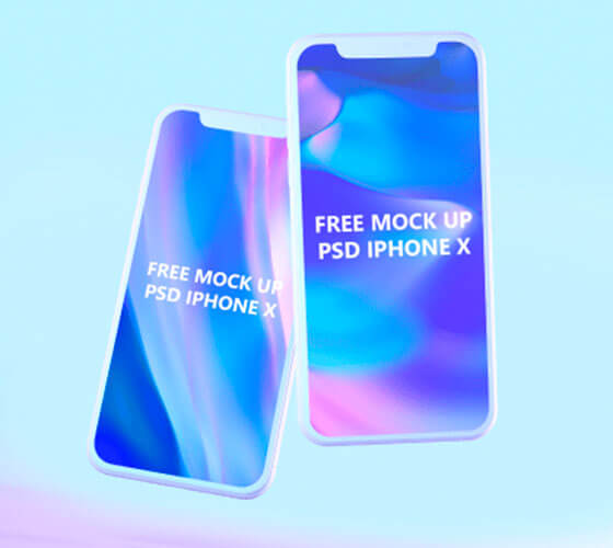 Pack Mockup Iphone X Flutuante