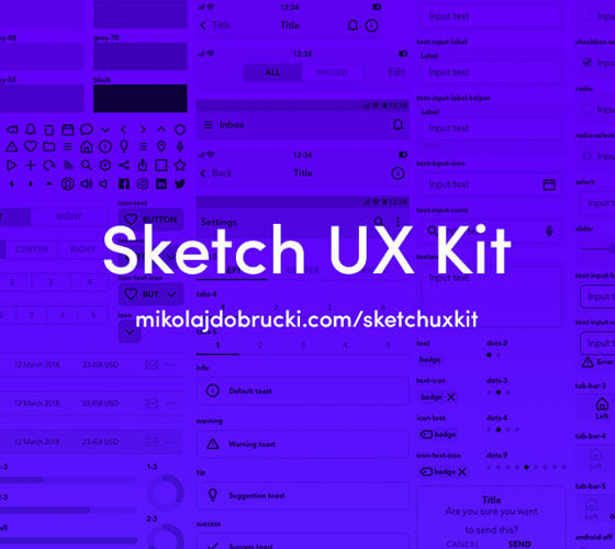Sketch Atomic Design UX Kit