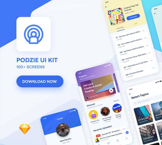 Podzie UI Kit para Podcast