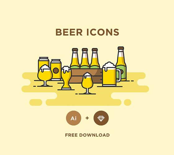 Ícones para cervejeiros
