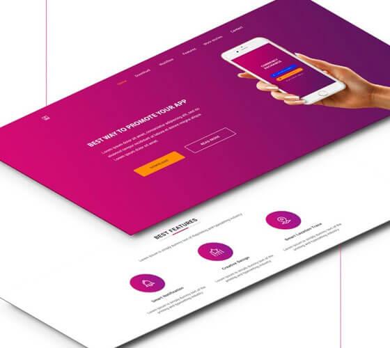 Template Landing Page Demo App