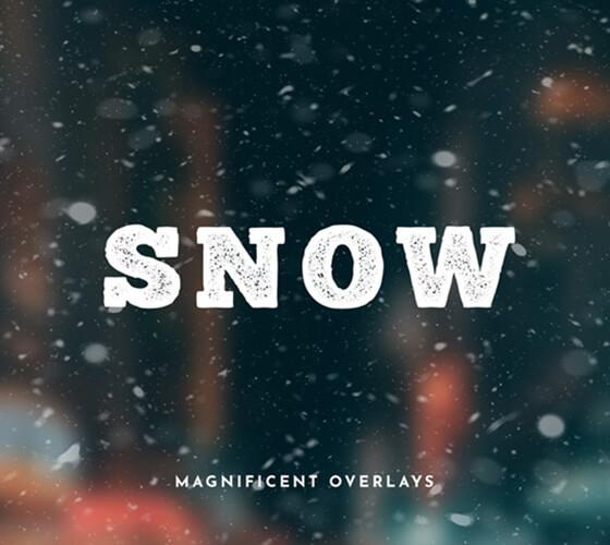 Sobreposições de neve