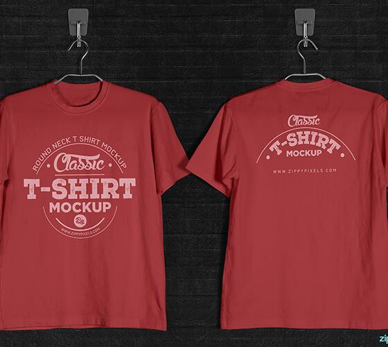 Mockup camiseta em cabide