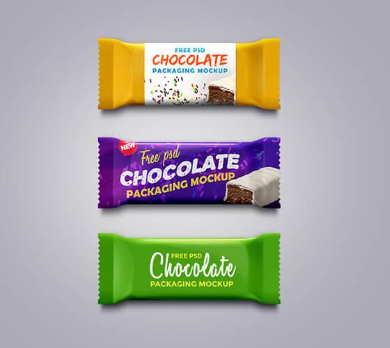 Mockup Embalagem de Chocolate