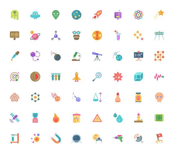 104 ícones de ciência