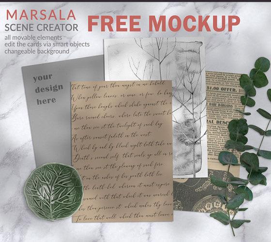 Mockup papel de carta antigo