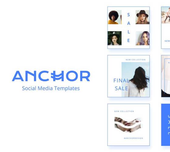 Anchor Templates para social media