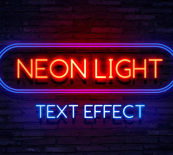 Efeito de texto Neon Light