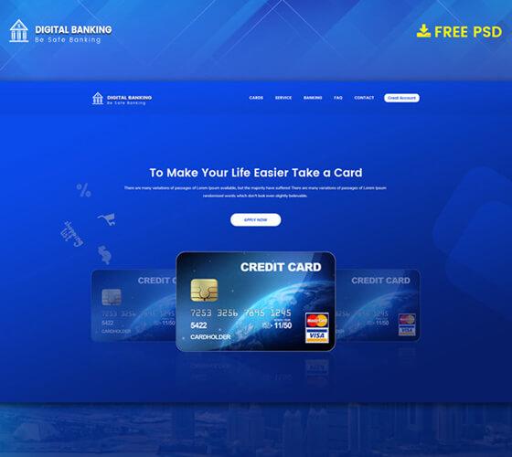 Template Landing page Cartão de crédito