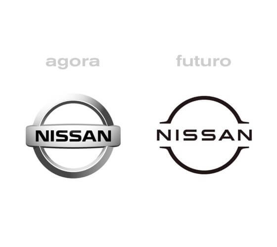 Nissan com novo logotipo