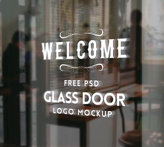 Mockup Aplicação de Logo em Vidro