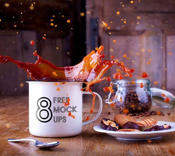 8 mockups xícaras e canecas