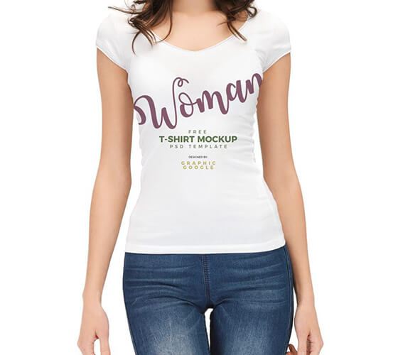 Mockup Camiseta feminina #2