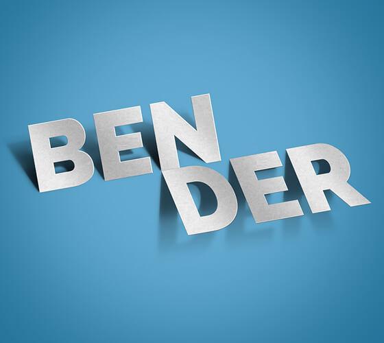 """Efeito de texto """"Bender"""""""