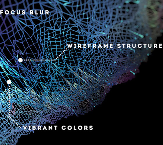 Spacetime abstract wireframe backgrounds