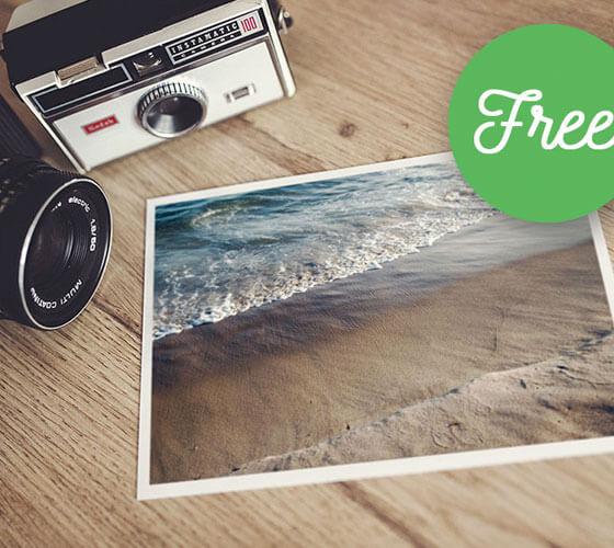 Mockup Fotografia Impressa