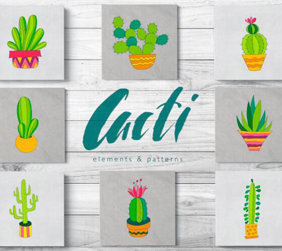 Vetores de cactus