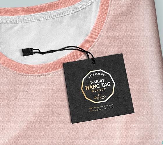 Mockup Etiqueta de roupa
