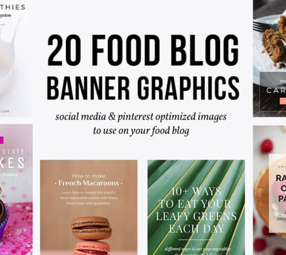 20 templates com comida