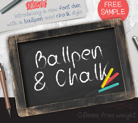 Ballpen and Chalk