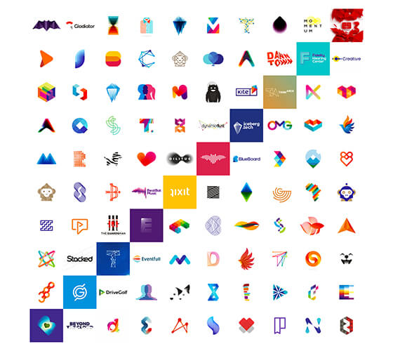 10 anos e 100 logotipos, por Alex Tass