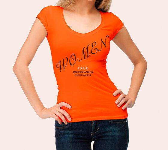 Mockup Camiseta feminina #5