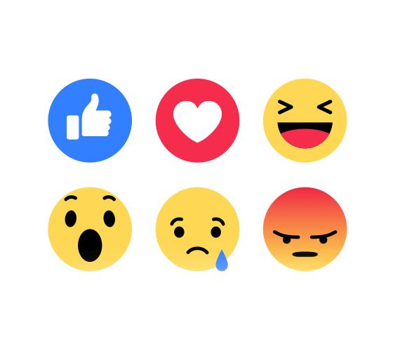 Reações do Facebook