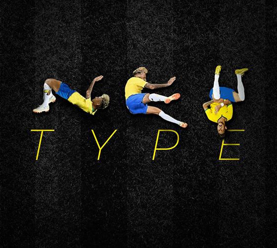 Brasileiro cria a Ney Type, tipografia inspirada nas quedas de Neymar na Copa do Mundo