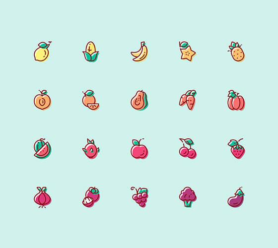 Ícones de frutas #2