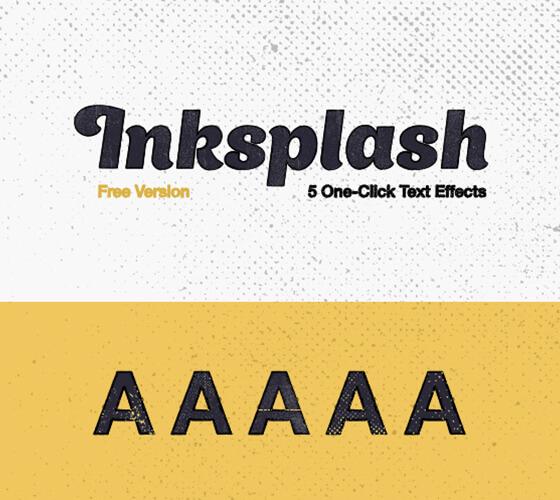 Efeito de texto Inksplash